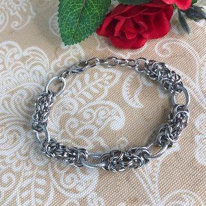 Byzantine Link Stainless Steel Bracelet